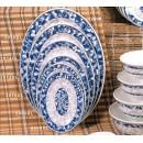 "Thunder Group 2014DL Blue Dragon Oval Platter 14"" x 10"" (1 Dozen) width="
