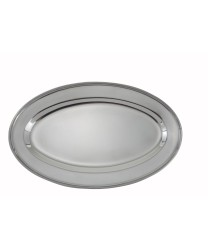 """Winco OPL-14 Stainless Steel Oval Platter 14"""" x 8-3/4"""""""