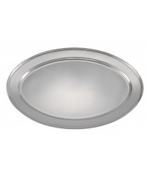"Winco OPL-20 Stainless Steel Oval Platter 20"" x 13-3/4"""