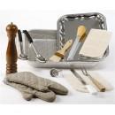 ROASTING KIT (RETAIL PACKAGED) WITH 18'' X 12'' ALUMINUM ROAST PAN, WIRE PAN GRATE, BASTING SPOON PERF... width=