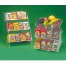 Revolving 3 Level Cereal Box Display - 60 Box Capacity - 12 1/2''Wx12 1/2''Dx14''H width=