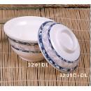 Rice/Noodle Bowl Lid Only, 5-1/4'' Dia., Melamine, Blue Dragon, Nsf (1 Dozen/Unit) width=