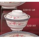 Rice/Noodle Bowl Lid Only, 5-1/4'' Dia., Melamine, Rose, Nsf (1 Dozen/Unit) width=