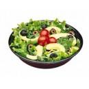 Salad Bowl, 8'' Diameter, Melamine, Stackable, Black (Sold In Master Case Only) (4 Dozen/Unit) width=
