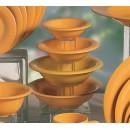 Thunder Group CR5608YW Yellow Melamine Salad Bowl, 8 oz.  (1 Dozen) width=