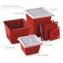 GET Enterprises ML-150-RSP Red Sensation Square Melamine Crock, 3 Qt. (6 Pieces) width=