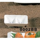 """Thunder Group 0002BB Blue Bamboo Twin Sauce Dish 3-5/8"""" x 2-3/4"""" (1 Dozen) width="""