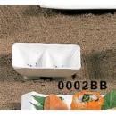 Sauce Dish, 3-5/8'' X 2-3/4'', 2-Compartment, Melamine, Blue Bamboo, Nsf (1 Dozen/Unit) width=
