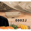 Sauce Dish, 3-5/8'' X 2-3/4'', 2-Compartment, Melamine, Wei, Nsf (1 Dozen/Unit) width=