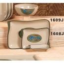 """Thunder Group 1608J Wei Wave Shape BGQ Plate 5-2/3""""  x  4"""" (1 Dozen) width="""