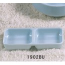 "Thunder Group 1902 Blue Jade Twin Sauce Dish 6"" x 3"" (1 Dozen) width="