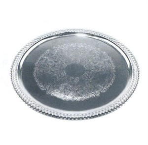 Winco CMT-1318 Chrome Plated Oval Serving Tray, 18-3/4'' x 13''