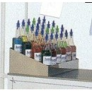Shave Ice Bottle Rack, tiered, holds 20 #1059 shave ice flavor bottles, 13-1/2'' x 20-1/4'', stainle... width=