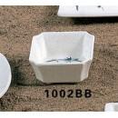 Thunder Group 1002BB Blue Bamboo Square Side Dish 4 oz. (1 Dozen) width=
