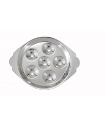 Winco SND-6 Stainless Steel 6-Hole Snail Dish
