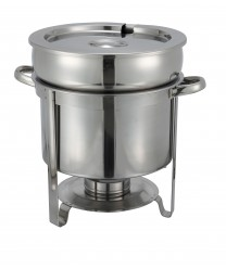 Winco 211 Stainless Steel Soup Warmer, 11 Qt.