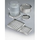 Standard Pitcher Drip Tray - Square 6'' X 6'' - Chrome width=