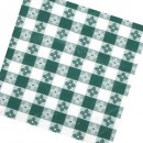 "Winco TBCS-52G Green Square Checkered Table Cloth 52"" x 52"" width="