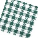 "Winco TBCS-52G Green Square Checkered Table Cloth 52"" x 52"" width="