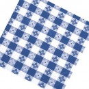 "Winco TBCO-70B Blue Checkered Oblong Table Cloth 52"" x 70"" width="