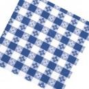 "Winco TBCO-70B Blue Checkered Oblong Table Cloth 52"" x 70"" width="
