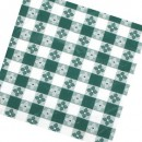 "Winco TBCO-70G Green Checkered Oblong Table Cloth 52"" x 70"" width="