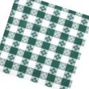 "Winco TBCO-70G Green Checkered Oblong Table Cloth 52"" x 70"" width="