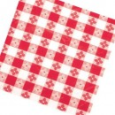 "Winco TBCO-70R Red Checkered Oblong Table Cloth 52"" x 70"" width="