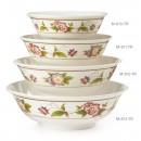 GET Enterprises M-810-TR Tea Rose Melamine Bowl, 24 oz. (1 Dozen) width=