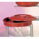 "Thunder Group NS608R Nustone Red Tortilla Server with Lid 8-1/4"" (1 Dozen) width="