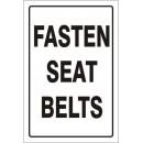 Traffic - Fasten Seat Belts (Reflective) [18X12 Aluminum Reflective] width=