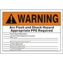 Wanring Arc Flash And Shock Hazard Appropriate Ppe Required width=