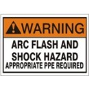 Warning Arc Flash And Shock Hazard Appropriate Ppe Required [3X5 Vinyl Press On] width=