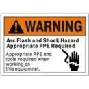 Warning Arc Flash And Shock Hazard Appropriate Ppe Required Appropriate Ppe And Tools Required When width=