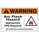 Warning Arc Flash Hazard Appropriate Ppe Required Refer To Nfpa 70E For Minimum Ppe Requirements width=