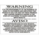 Warning Proposition 65 Compliance Statement Some Of The Responsibility Of The Business To Warn Its width=