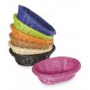"""GET Enterprises WB-1503-BK Designer Polyweave Black Oval Basket, 9""""x 6-3/4""""(1 Dozen) width="""