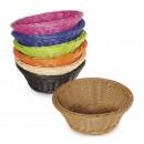"GET Enterprises WB-1501-BK Designer Polyweave Black Round Basket, 9-1/2""(1 Dozen) width="