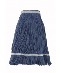Wet Mop Head, 24 oz. (600 g) capacity, blue yarn, looped end