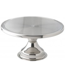 "Winco CKS-13 Stainless Steel Cake Stand, 13"" Dia."