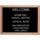 Aarco AOFD1824 Framed Letter Board Message Center with Oak Frame 18