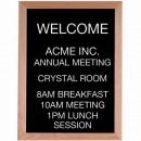 Aarco AOFD2418 Framed Letter Board Message Center with Oak Frame 24