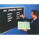 Aarco AOFD2430 Framed Letter Board Message Center with Oak Frame 24