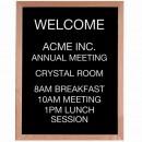Aarco AOFD3024 Framed Letter Board Message Center with Oak Frame 30