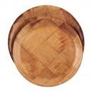 Woven Wood Plate, 9''D (6 Dozen/Unit) width=